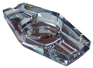 Crystal Two Place Ashtray