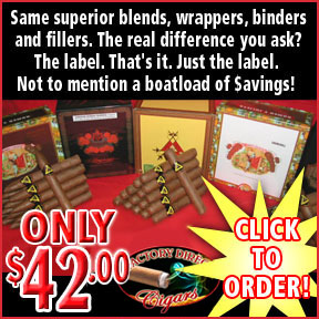 Factory Direct Cigars To You... Mega Buy !