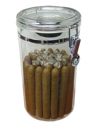 Acrylic Cigar Jar...20-25 Ct