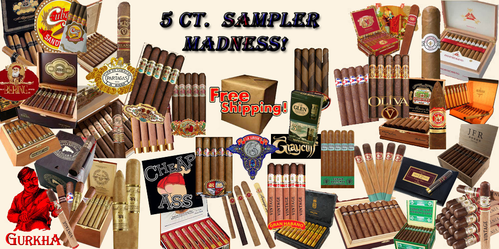 5 Ct. Sampler MADNESS!...Free Shipping
