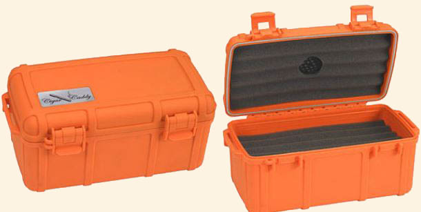 Cigar Caddy 15 Ct.  Orange