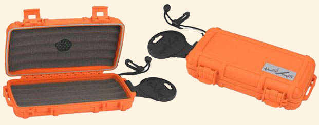 Cigar Caddy 5 Ct.  Orange