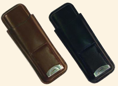 2 Finger Cigar Case w/Cutter