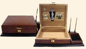 25 Ct.  Executive Desktop Humidor Set
