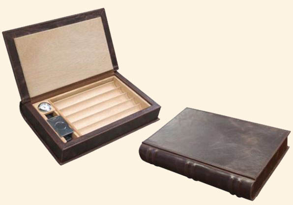 The Novelist Leather Book Travel Humidor