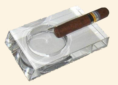Single Place Crystal Ashtray