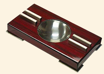 Contemporary Art Deco Two Place Cigar Ashtray